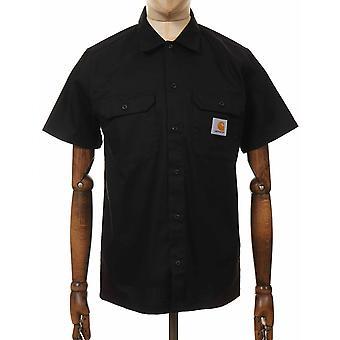 كارهارت WIP قصيرة الأكمام الرئيسية قميص - أسود