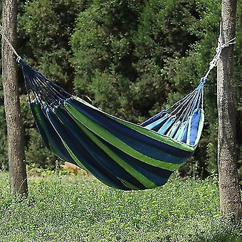Hammocks 1pc portable hammock outdoor hammock garden sports home travel camping swing canvas stripe hammock