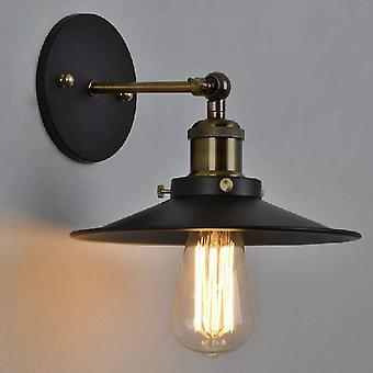 Wandlamp Industriële E27 Vintage Retro Lamp Edison Chroom Met Metalen Lampenkap