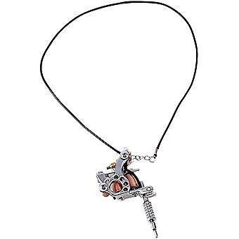 Tattoo Gun Necklace,mini Tattoo Machine Necklace,tattoo Supply Pendant Gift,portable Tattoo Supply Gun Keychain Metal Alloy Key Ring