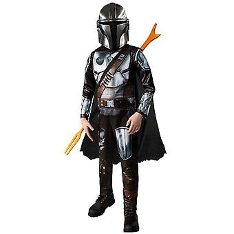 Galaxy Bounty Hunter Mandalorian Child Cosplay Costume Halloween