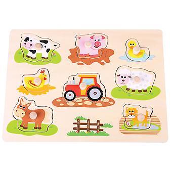 Puzzel knopjes New Classic Toys boerderij 30x23 cm