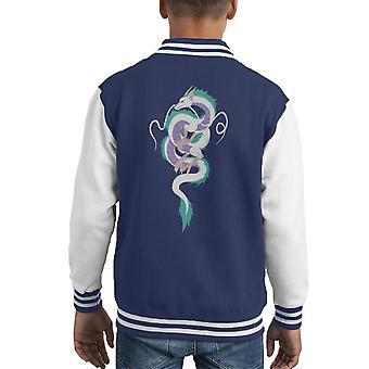Haku The River Spirit Spirited Away Kid's Varsity Jacket