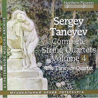 Taneyev String Quartet - Taneyev: Complete String Quartets 4 Nos. 6 & 5 [CD] USA import