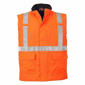 Portwest - Bizflame Regen Spezialist Sicherheit Hi-Vis antistatische FR Thermoweste