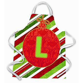 Christmas Oranment Holiday Initial Letter L Apron