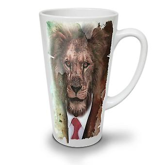 Sir Lion Face Wild NEW White Tea Coffee Ceramic Latte Mug 12 oz | Wellcoda