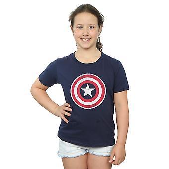 Marvel flickor Avengers Captain America knäckt Shield T-Shirt