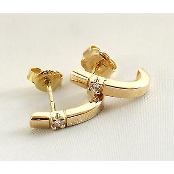 Orecchini in oro giallo con diamante
