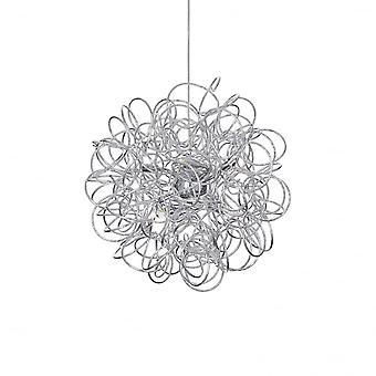 Ideal Lux Staub künstlerische Silber Wirbel Schatten Anhänger 8 Deckenleuchte
