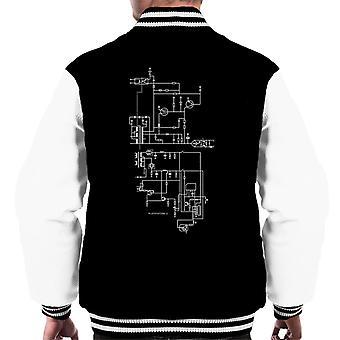 PlayStation 1 Computer Schematic Men's Varsity Jacket