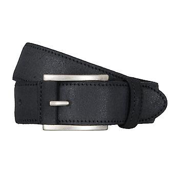 SAKLANI & FRIESE belts men's belts leather belt black 5028