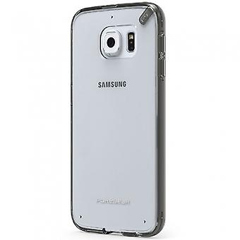 PUREGEAR SLIM SHELL PRO CASE FOR SAMSUNG GALAXY S6 - CLEAR/LIGHT GRAY