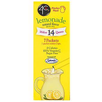4C Sugar Free Lemonade Natural Flavor Pitcher Packs Drink Mix