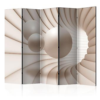 5-teiliges Paravent - Balls in the Tunnel II [Room Dividers]