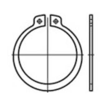 Retaining rings Inside diameter: 13.8 mm DIN 471 Spring steel 200 pc(s) TOOLCRAFT 107644