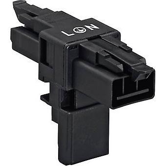 Distributeur de secteur T fiche - prise, alimentation prise Total nombre de broches: 2 + PE noir WAGO 1 PC (s)