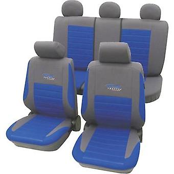cartrend 60120 Active Seat covers 11-piece Polyester Blue Drivers seat, Passenger seat, Back seat