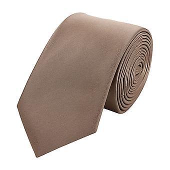 Stropdas de stropdas tie stropdas smalle 6cm bruin brons uni Fabio Farini