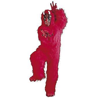 Männer Kostüme Luxus Teufel Kostüm in Plüsch