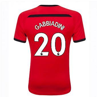 2018-2019年サウサンプトンのホーム サッカー シャツ (20 Gabbiadini)