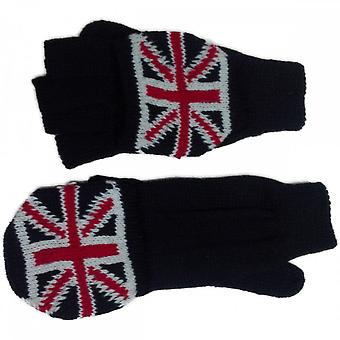 Union Jack Wear Union Jack Fingerless Glove Mittens