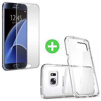 Stuff certifié® Samsung Galaxy S7 transparente TPU + écran protecteur en verre trempé