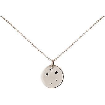 Constellation halsband horoskop Libra skala 925 silver, guldpläterad, Rose