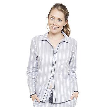 Cyberjammies 4077 naisten Chloe harmaa raidallinen Pyjama Top