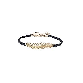 Lovemystyle Rope Style Bracelet With Metallic Feather
