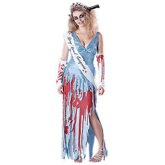 Womens Drop Dead Gorgeous Prom Queen Princess Halloween Kostüm