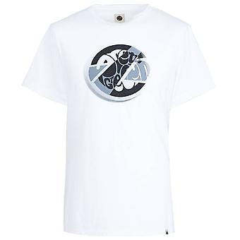 PRETTY GREEN White Circular Print T-shirt