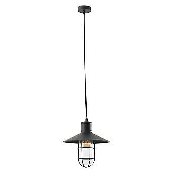 Faro - Marina svart och glas hänge FARO60004