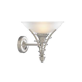 Linea Satin Silber und Opal Glas Wandleuchte - Scheinwerfer 5227SS