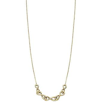Elements Gold Chain Detail Necklace - Yellow Gold
