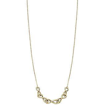 Elementen gouden ketting Detail halsketting - geel goud