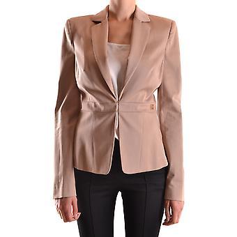 Elisabetta Franchi Ezbc050039 Women's Beige Cotton Blazer