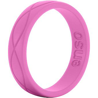 Enso Rings Women's Infinity Series Silicone Ring - Fuchsia