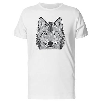 Face Painting Tee uomini Wolf-immagine di Shutterstock