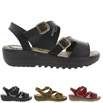 Womens Fly London Enat Bridle Leather Open Toe Cut Out Summer Sandals