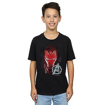 Marvel Мстители мальчиков Endgame Железный человек щеткой футболку