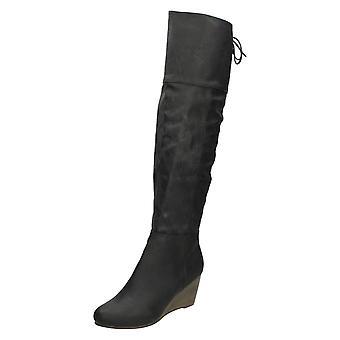 Dames Coco lengte knie hoge laarzen