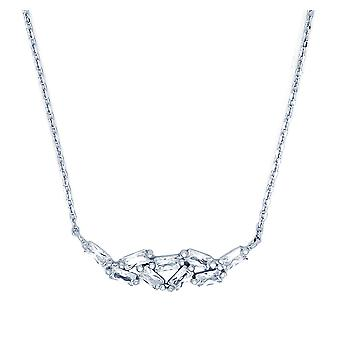 Ah! Biżuteria srebro Emerald uciętych jasne kryształy Swarovski wisiorek naszyjnik