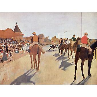 Race Horses before the Stands, Edgar Degas, 61x46cm