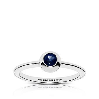 US Marines Sapphire ring i Sterling Silver design av BIXLER