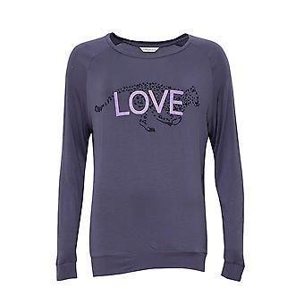 Cyberjammies 4192 femei ' s Laura Grey Leopard Print modal Pyjama top