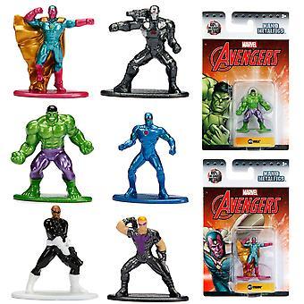 6pcs Marvel Avengers Nano Metalfigs collects characters Wave 2