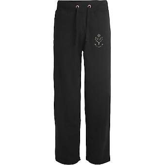 The Highlanders - Licensed British Army Embroidered Open Hem Sweatpants / Jogging Bottoms