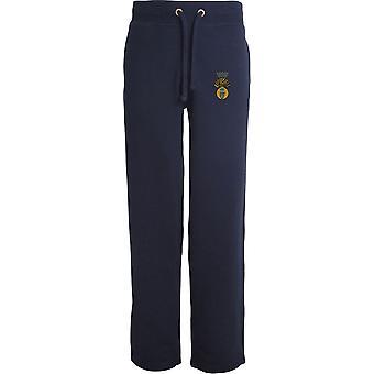 Royal Irish Fusliers - Licensed British Army Embroidered Open Hem Sweatpants / Jogging Bottoms