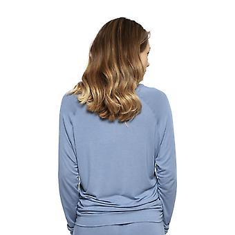 Cyberjammies 4243 kvinner ' s Harper blå modal Pyjama topp
